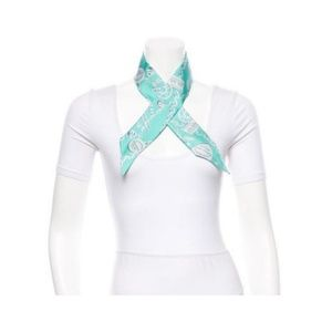 Tiffany & Co. Silk Light Teal Ribbon Scarf